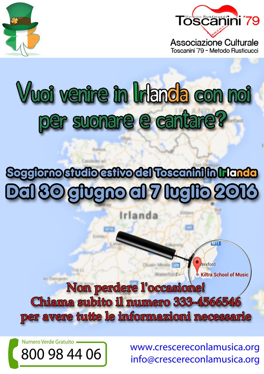 Soggiorno studio estivo del toscanini in irlanda for Soggiorno studio