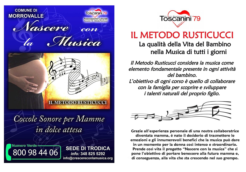 """Corso di Formazione: """"Nascere con la Musica"""" – Trodica di Morrovalle (dal 7 marzo 2018)"""